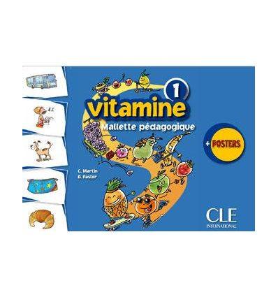 Карточки Vitamine 1 Mallete pedagogique (4 posters+225 flashcards) Martin, C ISBN 9782090354812