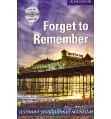 Книга Cambridge Readers Forget to Remember: Book with Audio CDs (3) Pack Maley, A ISBN 9780521184922 купить Киев Украина