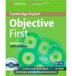 Тетрадь Objective First Workbook with answers with Audio CD Capel, A 3rd Edition 9780521178822 купить Киев Украина
