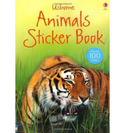 Книга Animals Sticker Book ISBN 9781409523529