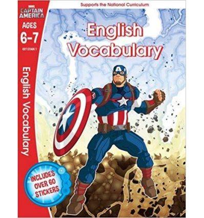 Книга Captain America: English Vocabulary, Ages 6-7 Scholastic ISBN 9781407171647