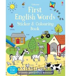First English Words Sticker and Colouring Book Robson, K 9781409582816 купить Киев Украина