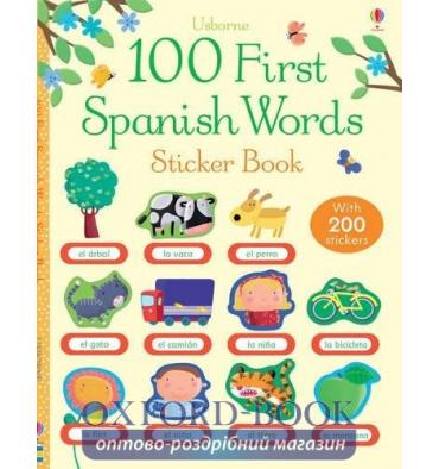 Книга 100 First Spanish Words Sticker Book Mackinnon, M ISBN 9781409557289