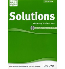 Книга для учителя Solutions 2nd Edition Elementary teachers book with CD-ROM Falla, T ISBN 9780194553704