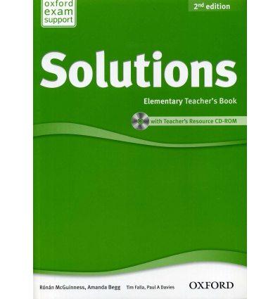 Книга для учителя Solutions 2nd Edition Elementary teachers book with CD-ROM Falla, T ISBN 9780194553704