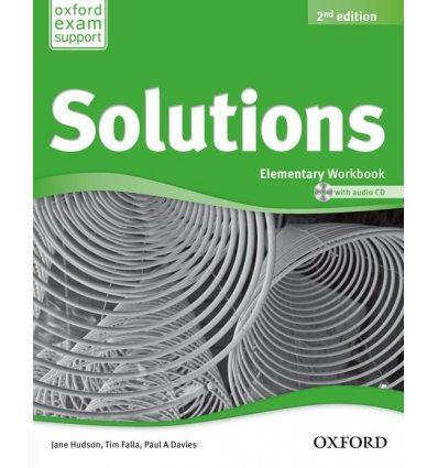 Рабочая тетрадь Solutions 2nd Edition Elementary workbook with Audio CD (UA) Falla, T ISBN 9780194553926