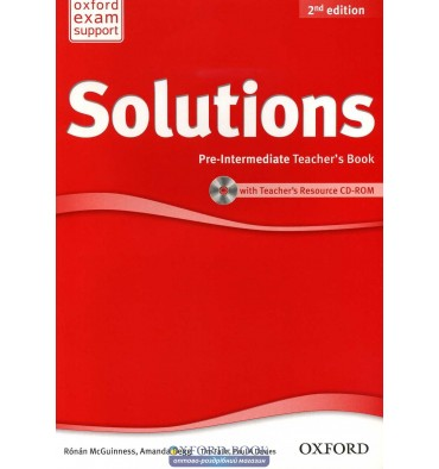 Книга для учителя Solutions 2nd Edition Pre-Intermediate teachers book with CD-ROM Falla, T ISBN 9780194553711