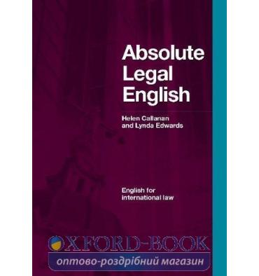 Книга Absolute Legal English Book with Audio CD 9781905085514