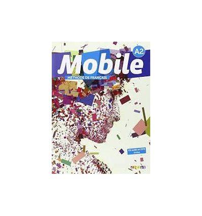 Книга Mobile A2 Livre + DVD-ROM + CD audio Alemanni, L. ISBN 9782278076567