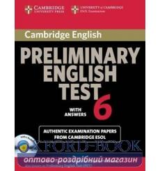 Учебник Cambridge English Preliminary 6 Self-study Pack (Students Book with answers and Audio CDs (2)) 9780521123242 купить К...
