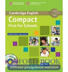 Учебник Compact First for Schools Students Book without answers with CD-ROM ISBN 9781107603974 купить Киев Украина