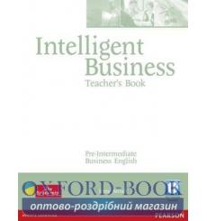 Книга для учителя Intelligent Business Pre-Interm Teachers book+CD ISBN 9781405843393 купить Киев Украина