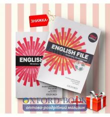 Книги English File Elementary Students book & workbook (комплект: учебник и рабочая тетрадь) Oxford University Press