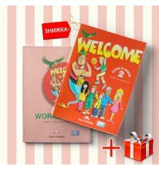 Книги Welcome 2 Pupils book & activity book (комплект: учебник и рабочая тетрадь) Express Publishing ISBN 9781903128190-1
