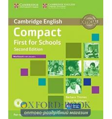 Тетрадь Compact First for Schools Workbook with key with Downloadable Audio  3rd Edition 9781107415720 купить Киев Украина