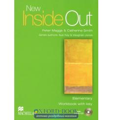 Тетрадь New Inside Out Elementary workbook with key and Audio CD 9781405085984 купить Киев Украина