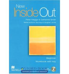 Тетрадь New Inside Out Beginner workbook with key and Audio CD 9781405070607 купить Киев Украина