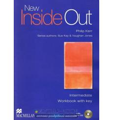 Тетрадь New inside out intermediate workbook with key + audio 9780230009097 купить Киев Украина
