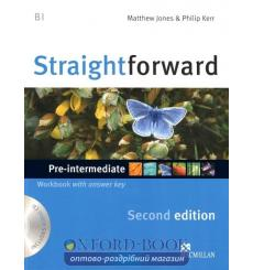 Тетрадь Straightforward Pre-Intermediate Workbook with key and CD 3rd Edition 9780230423169 купить Киев Украина