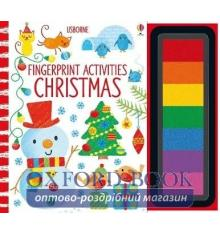 Книга-раскраска Fingerprint Activities: Christmas ISBN 9781474927963