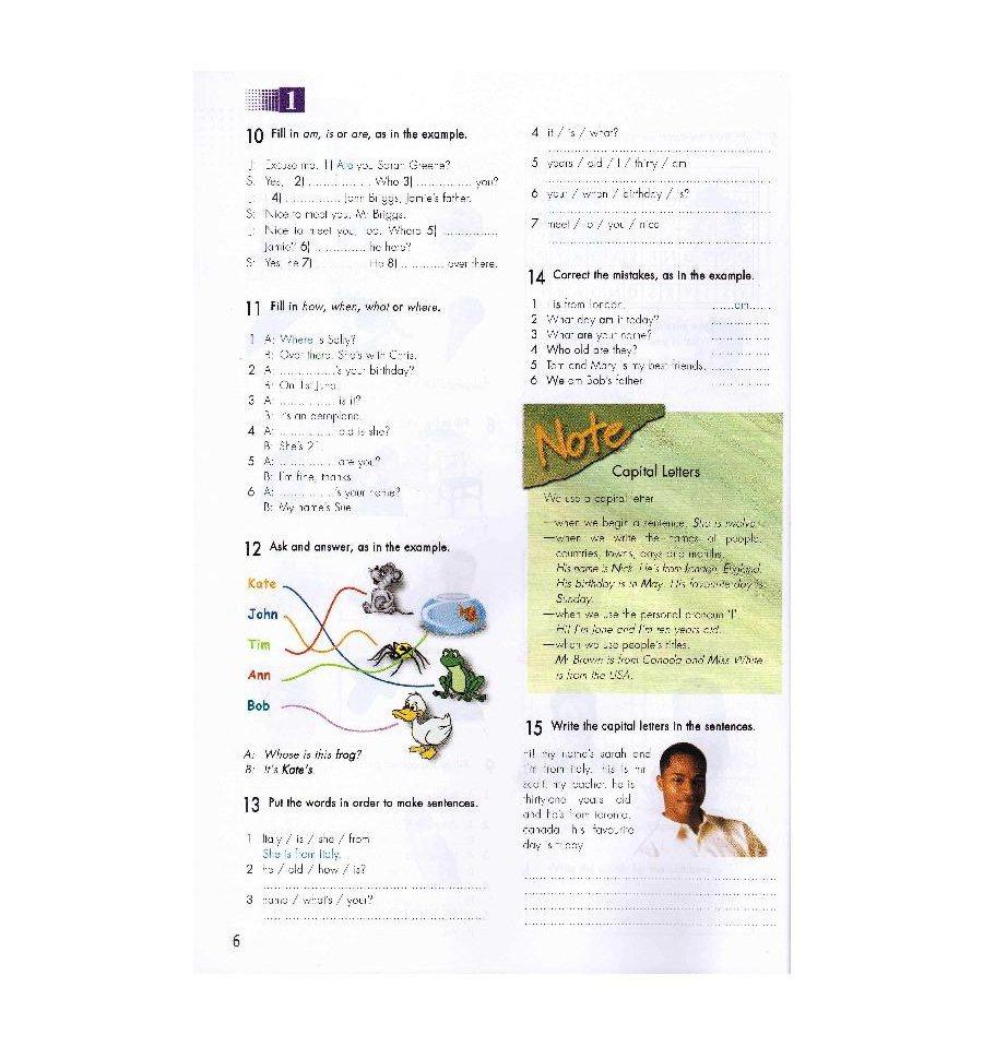 Решебник по английскому языку 6 класс click on 1 workbook