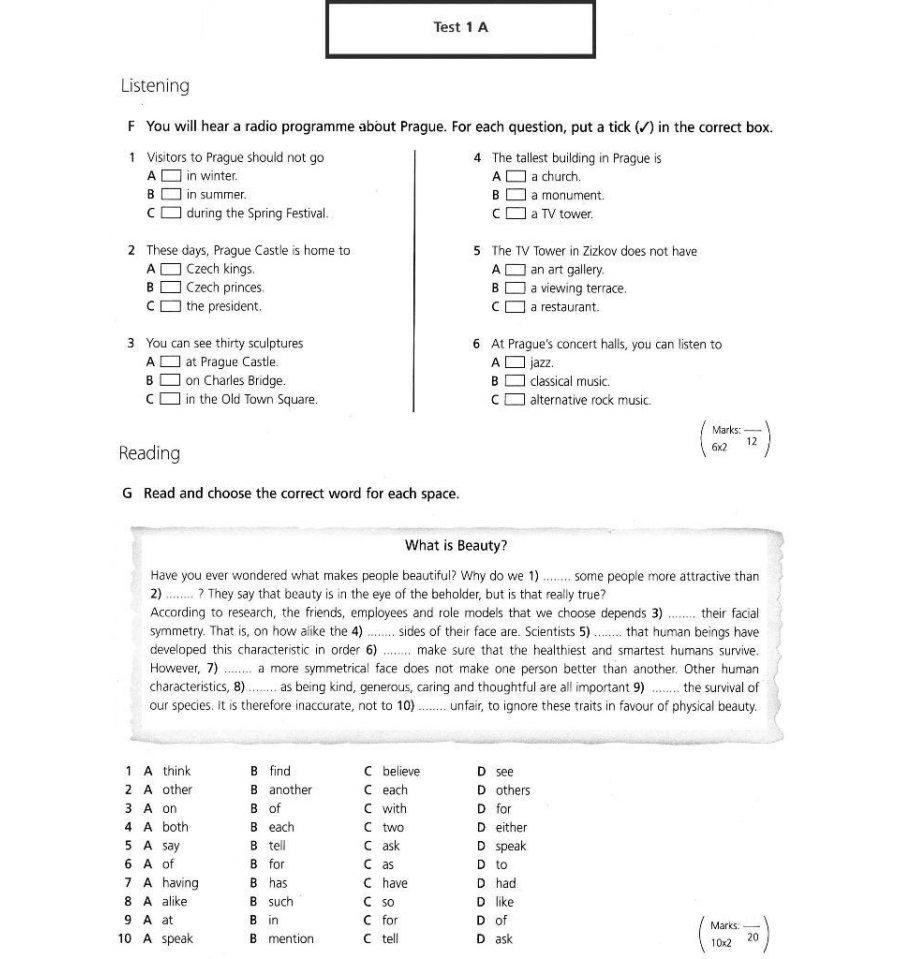 New Headway Intermediate Test Book