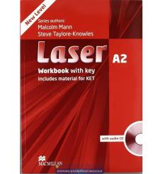 Laser (3rd Edition) A2 Workbook with Key & CD Pack