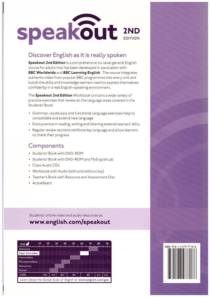 купить speak out upper intermediate workbook with key