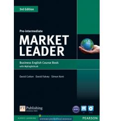 Market Leader 3rd Edition Pre-Intermediate Coursebook with DVD-ROM and MyEnglishLab