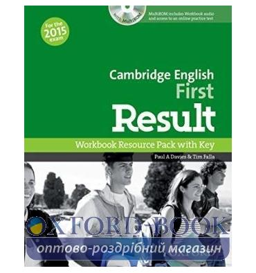Cambridge English First Result Workbook with key and MultiROM