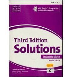 Solutions 3rd Edition Intermediate Teacher's Book with Teacher's Resource Disc