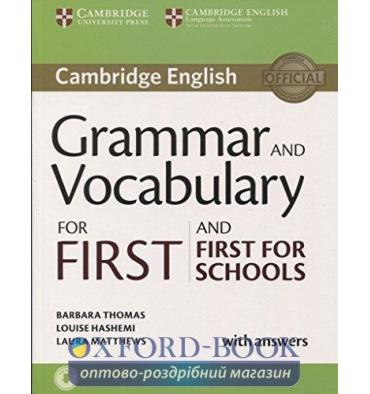 Cambridge Grammar and Vocabulary for First and First for Schools with key and Downloadable Audio