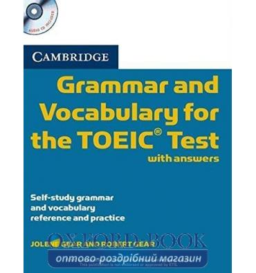 Cambridge Grammar and Vocabulary for the TOEIC Test with key and Audio СD