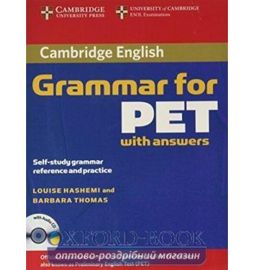 Cambridge Grammar for PET with key and Audio CD