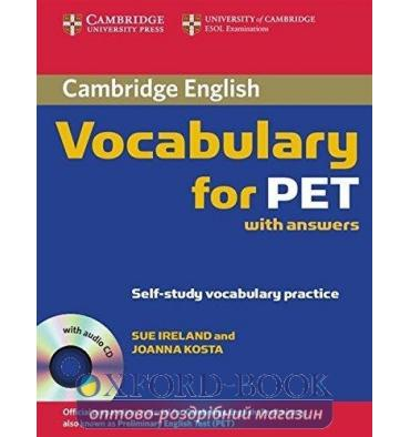 Cambridge Vocabulary for PET with key and Audio CD