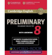 Cambridge English Preliminary 8 Student's Book with key