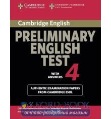 Cambridge Preliminary English Test 4 Examination Papers with key