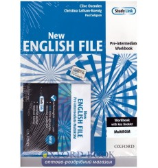 New English File Pre-Intermediate: Workbook with Answer Booklet with MultiROM