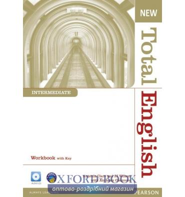 Total English New Interm Workbook with key with Audio CD
