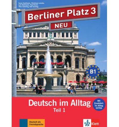 Berliner Platz 3 Lehr-und Arbeitsbuch Teil 1 + CD  NEU