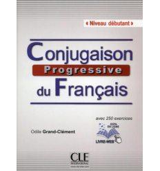 Conjugaison Progressive du Francais Debutant Livre + CD audio + Livre-web