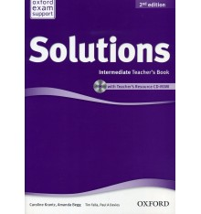 Solutions Intermediate Second Edition: Teacher's Book with CD-ROM