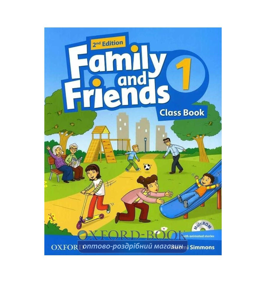Family and friends 1 2nd class book & workbook with multirom.
