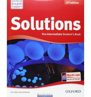 Solutions 2nd edition pre-intermediate: workbook and audio cd pack.