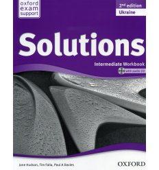 Solutions Intermediate Second Edition: Workbook with CD-ROM (Ukrainian Edition)