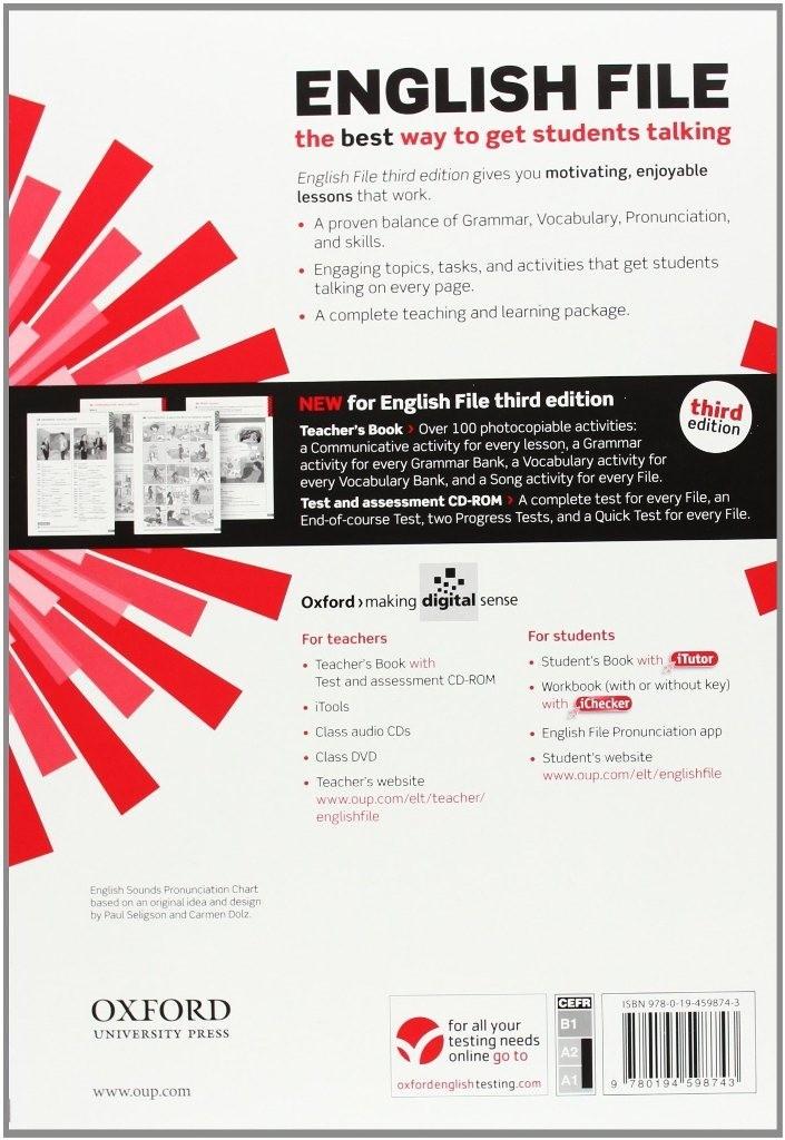 купить English File 3rd Edition Elementary: Teacher\'s Book with Test &  Assessment CD-ROM Украина цены отзывы в Киев