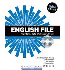 English File 3rd Edition Pre-Intermediate: Workbook with Key with iChecker CD-ROM